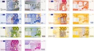 Eurosedlar innehåller lysämne av europium